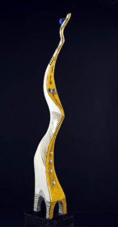 Donna Giraffa - Fer, plâtre, résine - 240 x 60 x 32 cm
