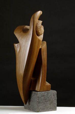 Le Vieux Pélican  - teck africain - 61 x 20 x 20 cm