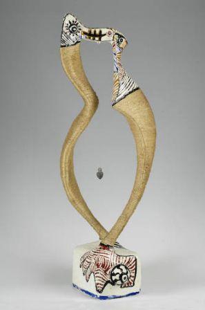 Le Pendule - Fer, plâtre, résine, corde - 97 x 38 x 29 cm