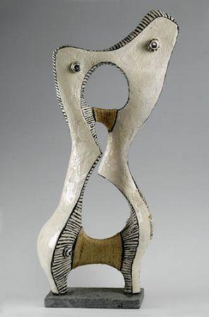 Couple Accordé - Fer, plâtre, résine - 100 x 50 x 29 cm