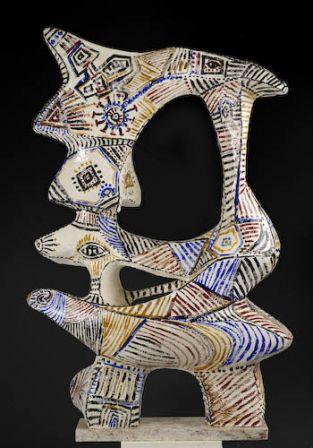 Danse - Fer, plâtre, résine - 107 x 73 x 34 cm